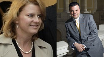 Rep. Melissa Bean and the shadow bank lobbyist in charge of her office, Chamber of Commerce lobbyist & ex-chief of staff John Michael Gonzalez.