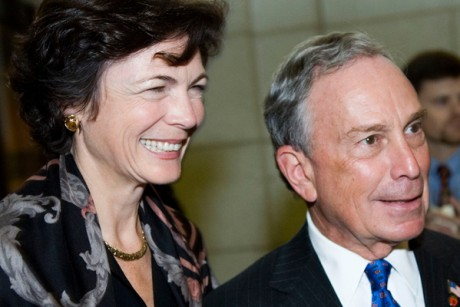 Bloomberg's longtime, live-in girlfriend, Diana Taylor, sits on the board of Brookfield Properties, which owns the park that Wall Street protesters are occupying.