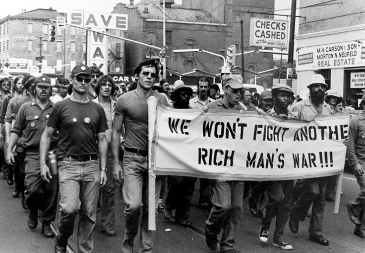 NARMIC worked with Vietnam Veterans Against the War, seen here protesting the war.